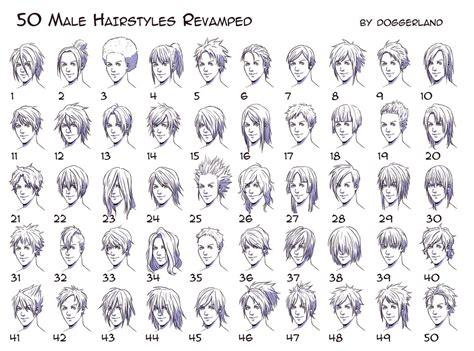 hairstyles drawing male 50 male hairstyles reved by orangenuke on deviantart