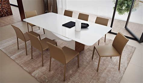 white glass top dining table ml clarence modern dining