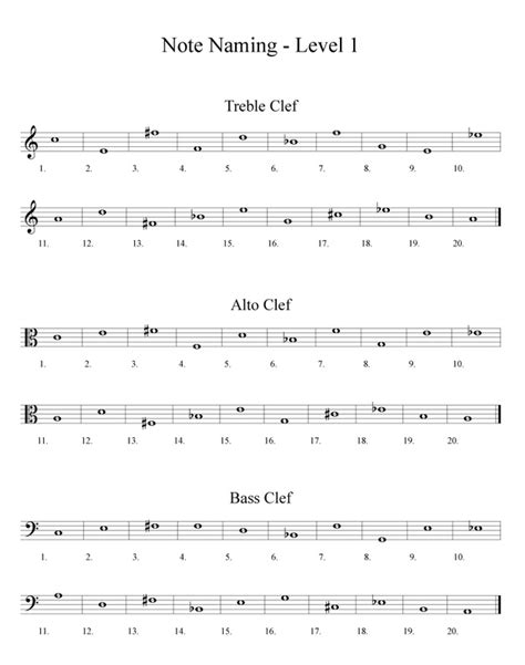 Note Name Worksheet by Free Band Orchestra Worksheets Rhythm Notes Note