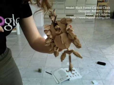 Origami Black Forest Cuckoo Clock - time lapse of an origami fold black forest cuckoo clock