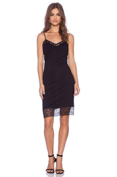 Slop Dress lyst sanctuary slip dress in black