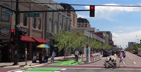 Denver Apartments South Broadway Temporary Protected Bike Finally Coming To South