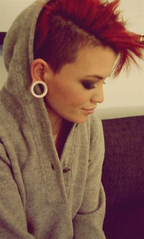 what hairstyles can be done with a bald spot in the top of head best 25 short punk hairstyles ideas on pinterest edgy