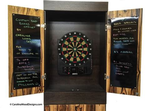 handmade dart board cabinet handmade custom dartboard cabinet by carolina wood designs