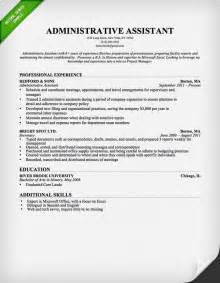 administrative resume templates administrative assistant resume sle resume genius