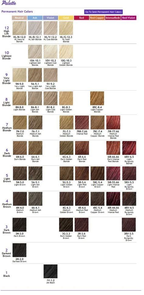 ion brilliance hair color chart ion color brilliance hair chart pictures