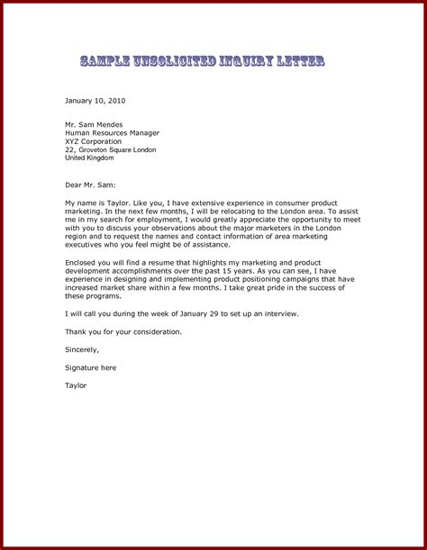 cover letter for inquiring about opportunities how to write a letter about inquiry cover letter