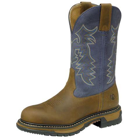 s rocky 174 11 quot work roper boots brown denim
