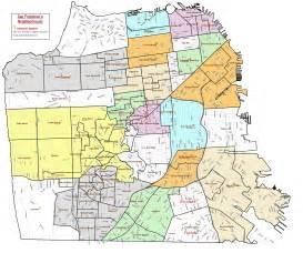 map of neighborhoods neighborhoods of san francisco david mcclure