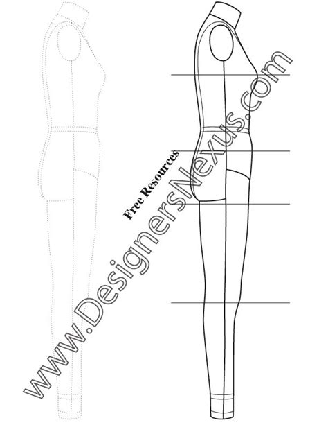 technical drawing templates 9 best technical drawing fashion figure templates images