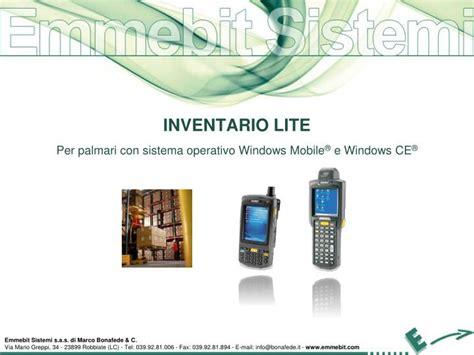 palmari windows mobile ppt inventario lite per palmari con sistema operativo