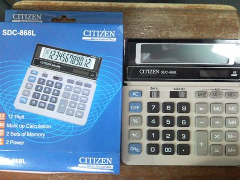 Kalkulator Citizen 12 Digit Calculator Berhitung Citizen Sdc 868l jual jual kalkulator calculator citizen sdc 868 l
