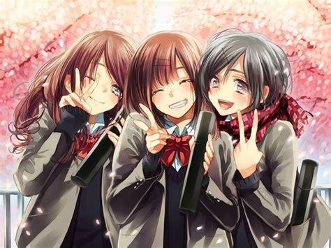 5 Anime Friends by Anime Friends Anime School Uniforms