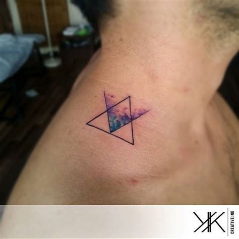 minimalist watercolor tattoo koray karag 246 zler minimalist triangles and watercolour