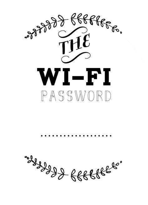 Wifi Password Card Template by Best 25 Wifi Password Printable Ideas On Wifi