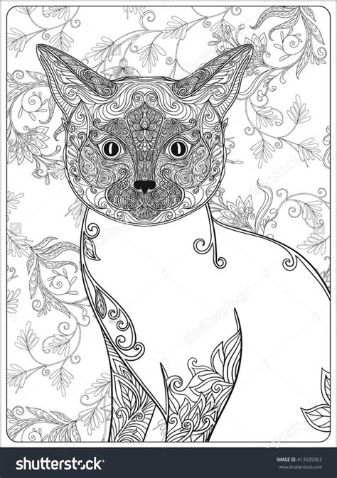 627 Best Images About Adult Colouring Cats Dogs