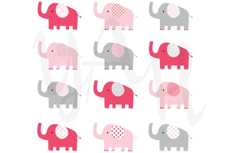 pink elephant pattern cute pink elephant pattern illustrations on creative market