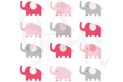 pink elephant pattern cute pink elephant pattern illustrations on creative market