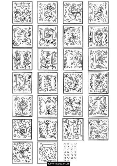 coloring pages letters ofthe alphabet fancy letters of the alphabet learning abc s with fancy