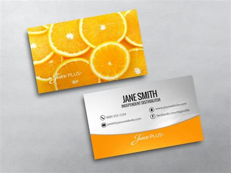 juice plus business card template juice plus business cards free shipping