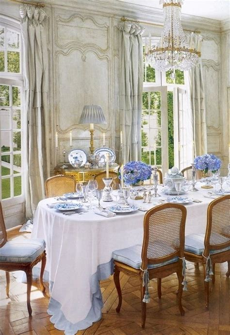 modern french country dining room table decor