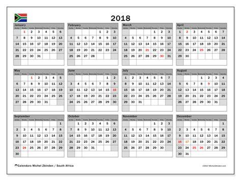 printable calendar 2018 south africa calendar 2018 south africa