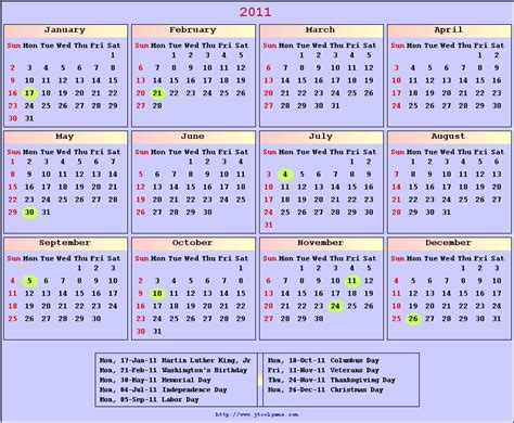 printable calendar english 2011 calendar printable 2011 english calendar color