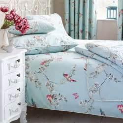 3 In 1 Duvet Kingsize Beautiful Birds Duck Egg Duvet Cover And Pillowcase Set