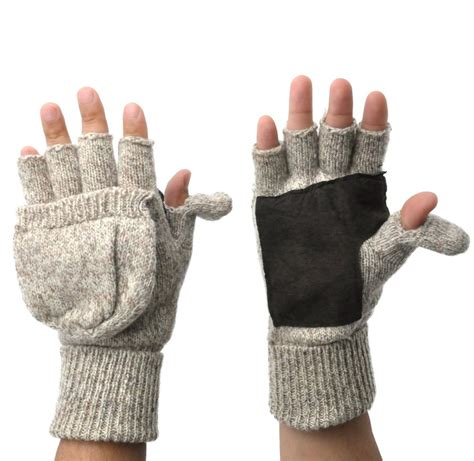 knitting patterns for fingerless gloves with mitten cover thermal insulation knit fingerless mitten winter gloves w