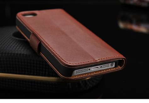 Wallet Leather Iphone 5 premium leather wallet for iphone 5 papa