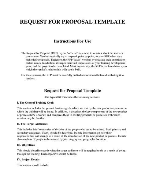 Request For Proposals Template template design part 198