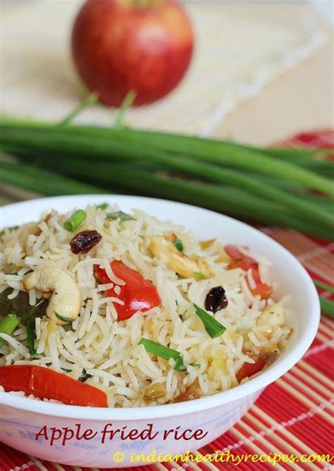 apple fried rice recipe easy indian kids lunch box recipe apple fries and lunch box recipes