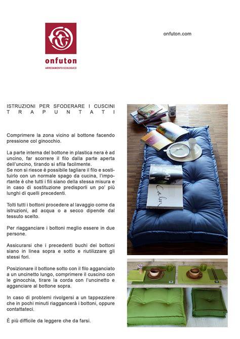 cuscini trapuntati manutenzioni onfuton