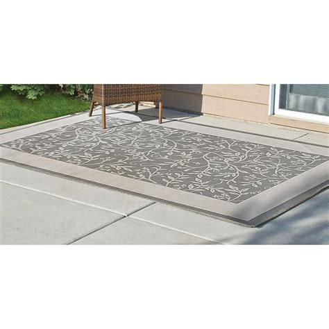 Outdoor Rug 5x8 5x8 Green Leaf Outdoor Rug 229090 Outdoor Rugs At Sportsman S Guide