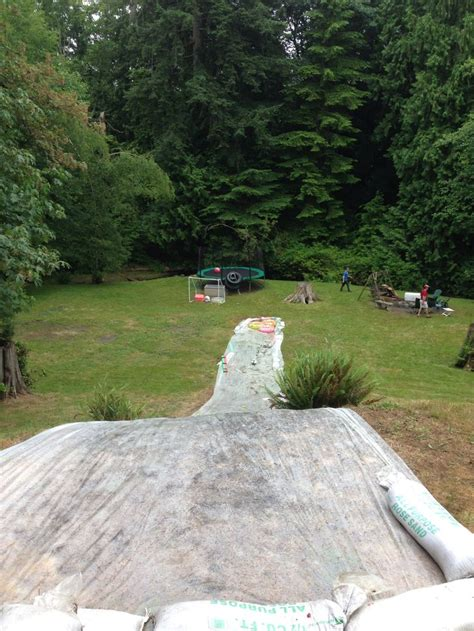 slide backyard 17 best images about diy waterslide and zipline woohoo
