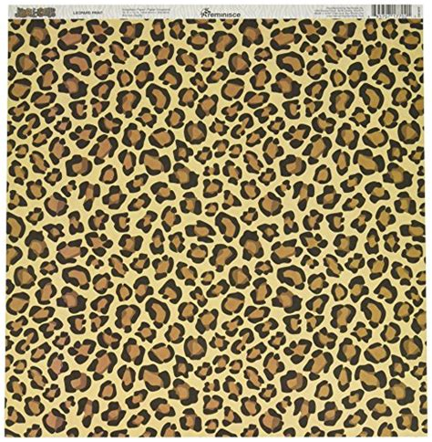 12inch Scrapbook Paper 25 reminisce jungle icious 12 by 12 inch sided scrapbook paper leopard print packs of 25