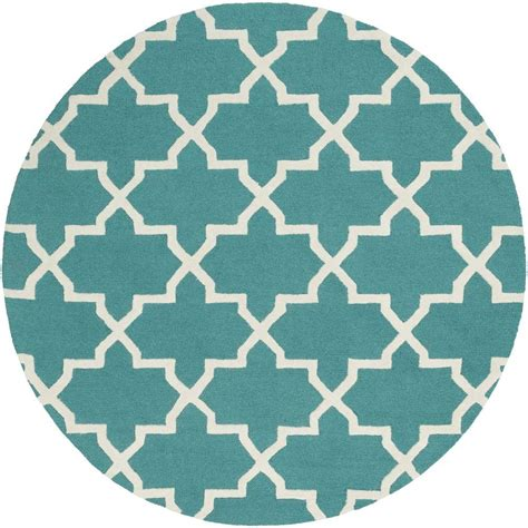 teal circle rug artistic weavers pollack keely teal 6 ft x 6 ft indoor area rug awdn2027 6rd the home