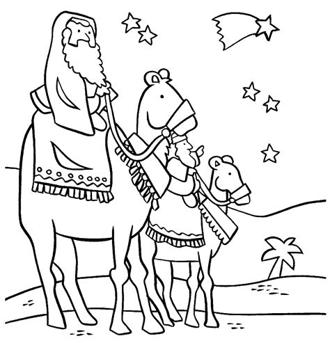 three wisemen coloring sheet coloring pages