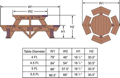 plans building plans octagon picnic table