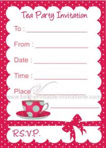 printable tea invitations template tea invitation