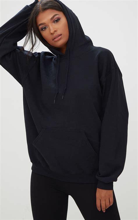 Hoodie Black s sweaters hoodies prettylittlething usa