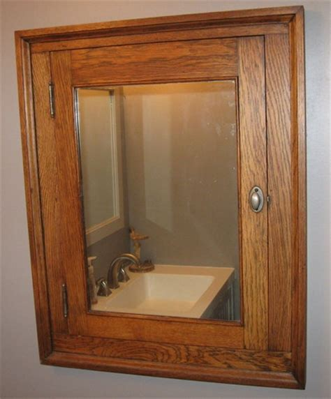 mission style bathroom mirror antique mission style arts and crafts built in medicine