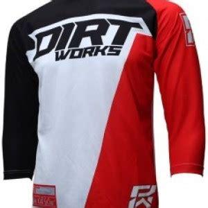 Baju Dan Celana Dryfit Putih Merah jersey sepeda dirtworks starck merah jual baju jersey