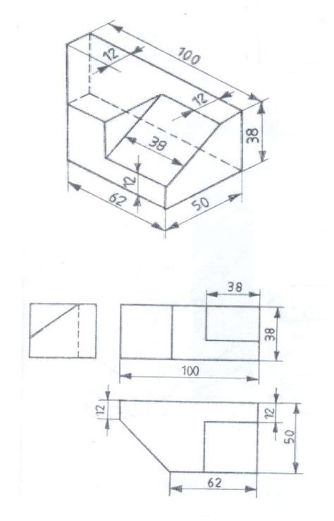 3 Drawing Views by Isometric Views In Engineering Drawing