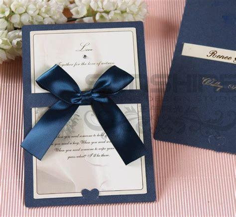 Wedding Card Ribbon by Aliexpress Buy Invitation Card Wedding Cards Cm B2