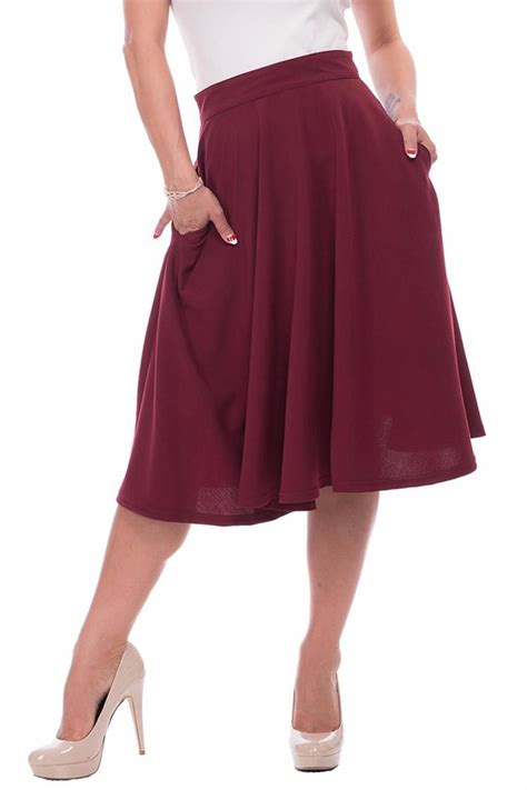 what is swinging skirts steady clothing burgundy swing skirt from omaha by daisy