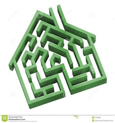 maze house maze house as a symbol of home hunting puzzle vector illustration cartoondealer com