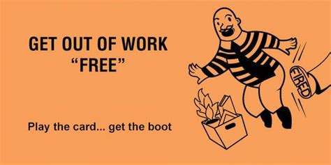 get out of card template get out of free cards for the office happy worker