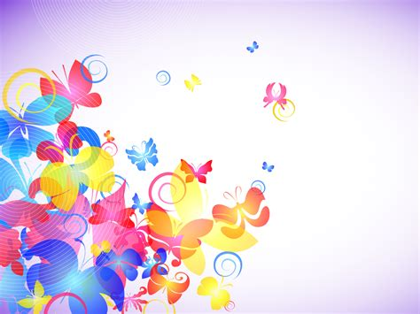 colorful powerpoint templates abstract colorful butterflies powerpoint ppt backgrounds