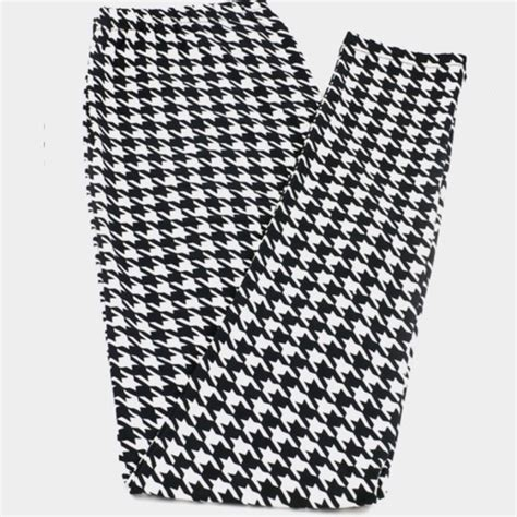 houndstooth pattern leggings pink flamingo boutique iris butter soft houndstooth
